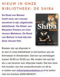 Shiba boek Raad van Beheer